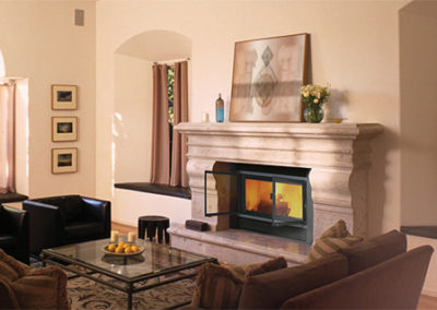 Valcourt Montcalm Wood Fireplace
