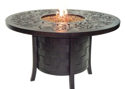 Castelle Classic Round Firepit Dining Table